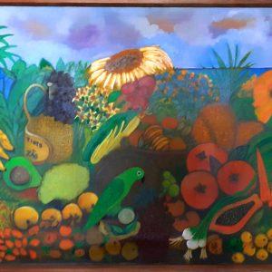 Frutas tropicais - acrílica s/ tela - 0.95 x 1.45m