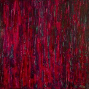 Composição em Vermelho 03 - 100 x 100cm
