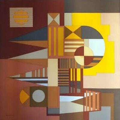 Burle Marx - Serigrafia S/ Tecido - 0.80 x 0.80m
