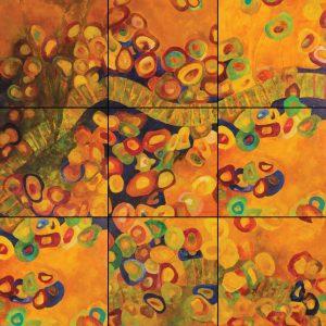 Painel - da série As que vieram... - acrílica s/ canvas - 0.50 x 0.50m (cada)